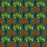 Seamless trees pattern Stock Images