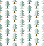 seamless trees pattern. Winter landscapes wallpaper. Royalty Free Stock Photos