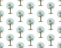 Seamless trees pattern. Winter landscapes wallpaper. Royalty Free Stock Photography