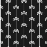 Seamless trendy arrow pattern. Black and white arrows with modern scandinavian style. Seamless trendy arrow pattern art deco. Black and white arrows with modern royalty free illustration