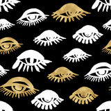Seamless trendy blog background with handdrawn gold and black in Royalty Free Stock Image