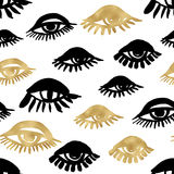 Seamless trendy blog background with handdrawn gold and black in Stock Images