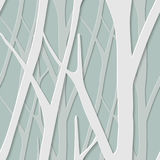 Seamless trendy pattern with birch trees. Floral modern 3D wallpaper. illustration. Eps-10 Royalty Free Stock Image