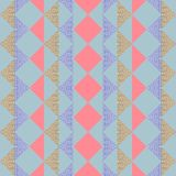 Seamless triangle abstract geometric cute pastel pattern background. Seamless triangle abstract geometric pattern background royalty free illustration
