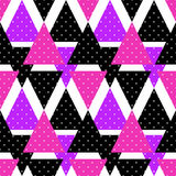 Seamless triangle bright pattern background geometric abstract t Stock Photography
