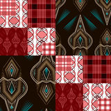 Seamless triangle bright pattern background geometric abstract Stock Photo