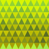 Seamless triangle green and yellow pattern. Vector illustration of geometric seamless texture Stock Photography