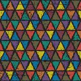 Seamless triangle grunge pattern background Royalty Free Stock Photo