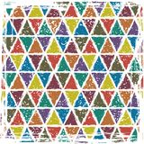 Seamless triangle grunge pattern background Royalty Free Stock Image