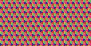 Seamless triangle hexagon pattern  Royalty Free Stock Photography