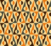 Seamless triangle and hexagon pattern. Vector. Colorful seamless pattern illustration, triangle and hexagon, with retro colors, vector format available Royalty Free Stock Image