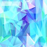 Seamless triangle mosaic pattern. Blue colors. Stock Photo