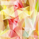 Seamless triangle mosaic pattern. Yellow. Royalty Free Stock Images