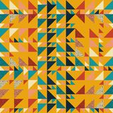 Seamless triangle pattern abstract background with autumn geometric texture memphis pastel trendy. Beauty and unique pattern Vector Illustration