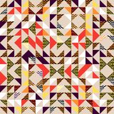 Seamless triangle pattern abstract background with geometric texture memphis trendy. Beauty and unique pattern Royalty Free Illustration
