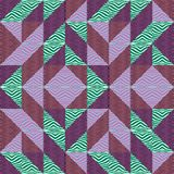 Seamless triangle pattern autumn abstract background with geometric texture memphis pastel trendy. Seamless triangle pattern abstract background with geometric royalty free illustration