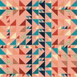 Seamless triangle pattern autumn abstract background with geometric texture memphis pastel trendy. Beauty and unique pattern royalty free illustration