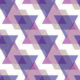 Seamless triangle pattern background geometric abstract texture Royalty Free Stock Images