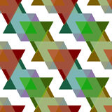 Seamless triangle pattern background geometric abstract texture Stock Images