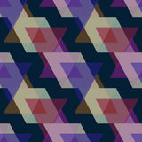 Seamless triangle pattern background geometric abstract texture Stock Image