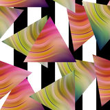 Seamless triangle pattern background geometric abstract texture Royalty Free Stock Photos