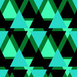 Seamless triangle pattern background green black geometric abstr Royalty Free Stock Photography