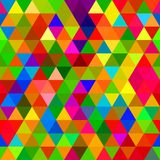 Seamless Triangle Pattern. A seamless repeating background pattern with colourful triangles Stock Photos