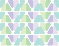 Seamless triangle pattern with round corners no auto pattern Royalty Free Stock Photography