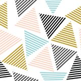 Seamless triangle pattern. Vector background. Geometric abstract texture. Stylish seamless pattern with bright triangles Royalty Free Stock Images
