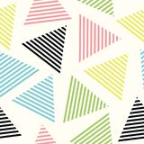 Seamless triangle pattern. Vector background. Geometric abstract texture. Stylish seamless pattern with bright triangles Stock Photos