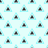 Seamless triangle shape pattern Royalty Free Stock Images