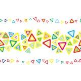 Seamless triangle stripe. Stock Photos