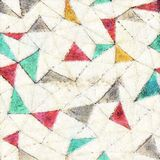 Seamless triangle water color style background Royalty Free Stock Photo