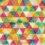 Seamless triangle water color style background Stock Images