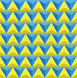 Seamless Triangles background,blue and yellow triangles pattern Royalty Free Stock Photography