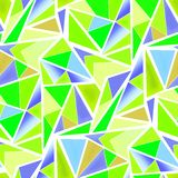 Seamless triangles bright neon green blue lime pattern. Background royalty free illustration