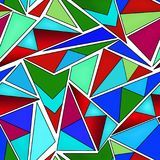 Seamless triangles bright pattern Stock Images