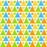 Seamless triangles circles background pattern Stock Images