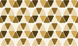 Seamless triangles and dots cell pattern. Abstract brown triangular cells and dots geometric background. Seamless texture Stock Images