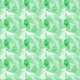 Seamless triangles gem stones background. Emerald triangles prism stones seamless pattern Royalty Free Stock Photo