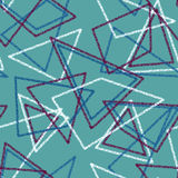 Seamless triangles retro colors pattern background geometric abs Royalty Free Stock Photo