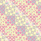 Seamless triangles and squares patchwork vector pattern vector illustration