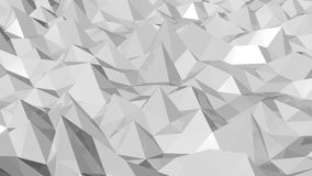 Seamless triangular crystalline background animation stock video