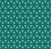 Seamless triangular pattern. Seamless pattern of triangles with 3d effect in blue green colors Stock Images