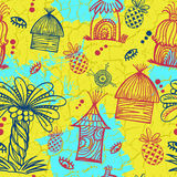 Seamless tribal background Stock Photos