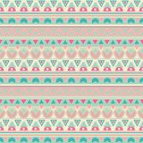 Seamless tribal ethno folk pattern in retro Royalty Free Stock Photography