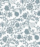 Seamless tribal floral pattern design Stock Photo