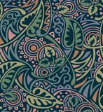 Seamless tribal floral pattern royalty free stock photos