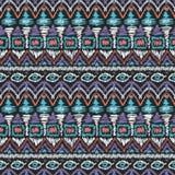 Seamless tribal ikat scribble pattern retro. Background Stock Image