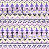 Seamless tribal ikat scribble pattern retro. Background Royalty Free Stock Image